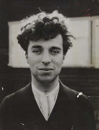 Portrait of Charlie Chaplin as a young man in Hollywood