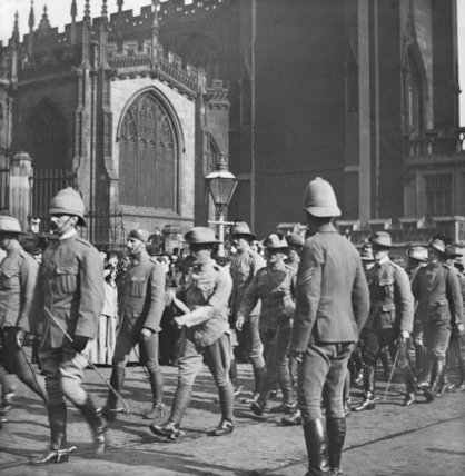 Boer War Troops Outside Manchester Cathedral - c1900