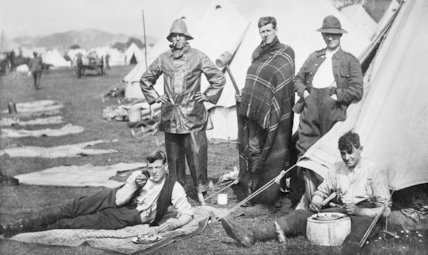 Volunteers at Camp - c1912