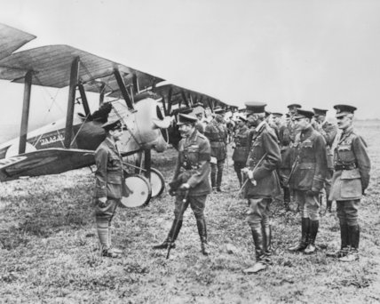 George V Inspects The Royal Flying Corps - c1915