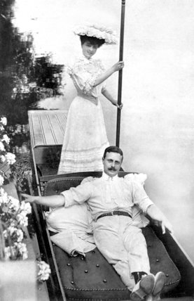 Music Hall Singer and Male Impersonator Vesta Tilley with Her Husband Walter de Frece - 1904