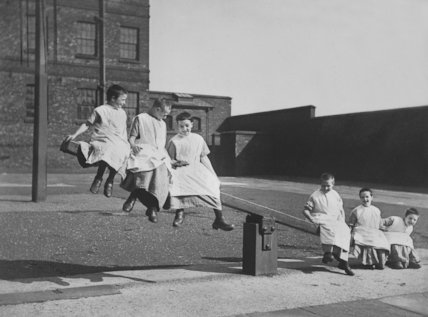 Children Playing on a See-Saw at Crumsall Workhouse, Manchester - c1890