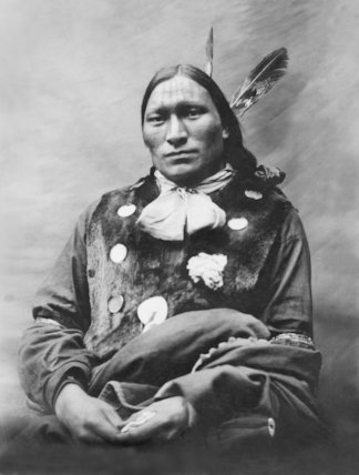 Native American Oscar Long Soldier - c1890