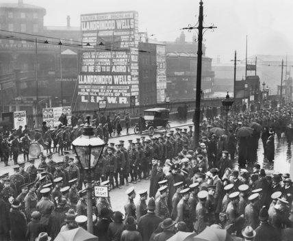 First World War Troops March into Manchester Cathedral - c1914