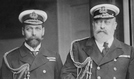 King Edward V11 and George, Prince of Wales - c1908