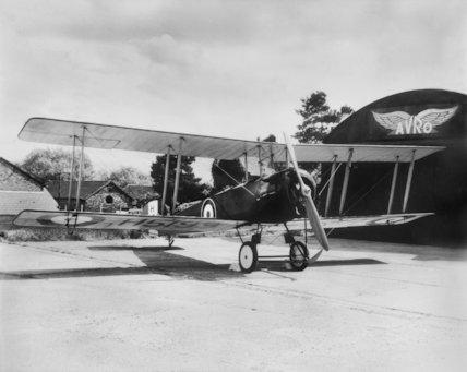 An Avro Biplane - c1916