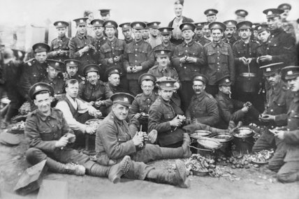 Spud Bashing--the 53rd Batt. the Manchester Regiment - c1916