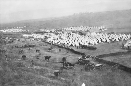 A Training Camp at Hollingworth Lake.   Littleborough, c1910