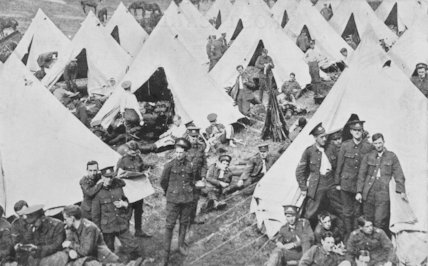 The Army Camp at Hollingworth Lake.  Littleborough, c1914