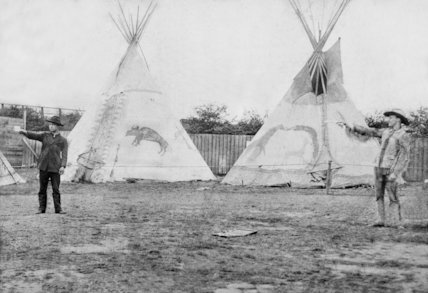 Buffalo Bill's wild west show - c1880