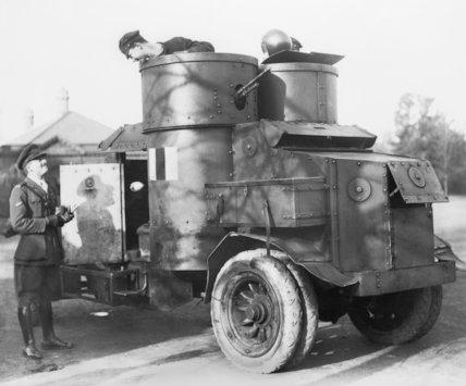 A First World War Armoured Car - c1914