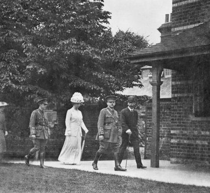 King George V and Queen Mary Visit a Hospital During the First World War - c1917