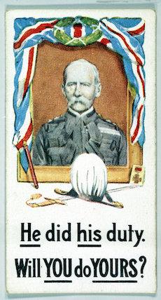 Cigarette cards - WW1 Recruiting