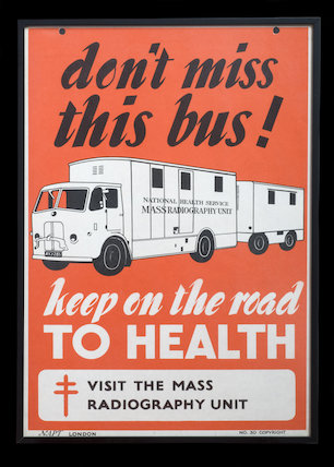 Don't miss the bus! Keep on the road to health'.