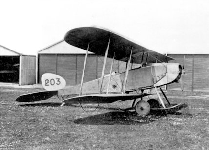 A Be Type Biplane Outside the Hangers at Farnborough Airfield - 1913