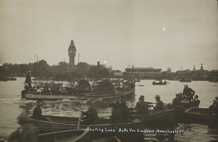 Boating Lake, Belle Vue Gardens, Manchester, 1920s'