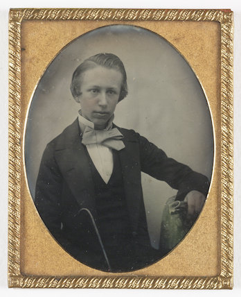 Boy smartly dressed, about 1858