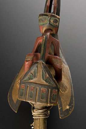 Rattle of a 'medicine man' or Chief, North America, 1801-1901
