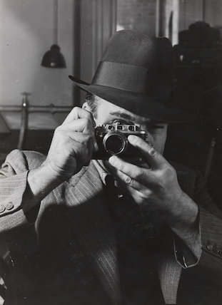James Jarché with his Leica...