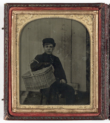 Boy with Basket, about 1860