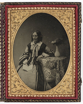 Woman Reading Book, about 1860