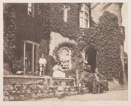 The Campbell family at Tullichwellan Castle, 1857
