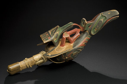 Rattle of a 'medicine man' or Chief, North America, 1801-1900