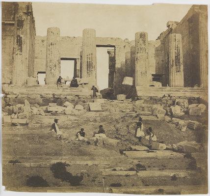Propylaea, Athens, about 1855