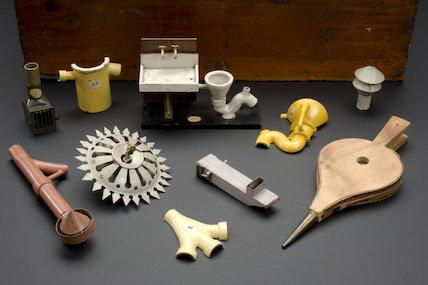 Hygiene Demonstration Cabinet, English, 1895.