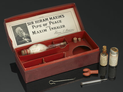Maxim's 'Pipe of Peace', by J. Morgan Richards and Sons Ltd. Early 19th century.