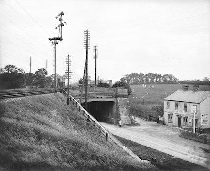 Denbigh Hall railway bridge, about 1907