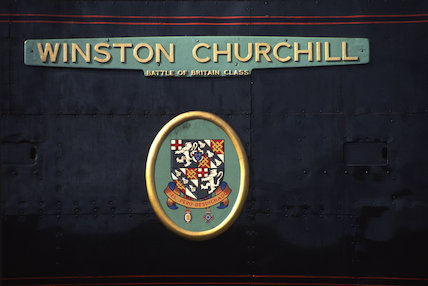 SR 4-6-2 Battle of Britain Class No. 34051 'Winston Churchill' - 1990.