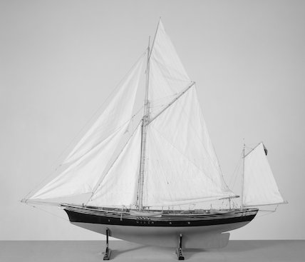 Yawl rigged sailing yacht 'Jullanar'. Model