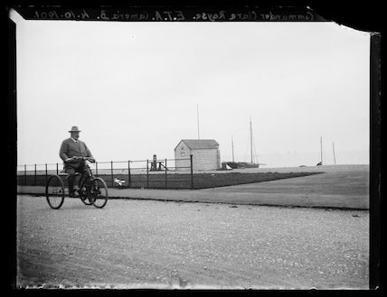 'Commander Clare Royse On Tricycle', 1901