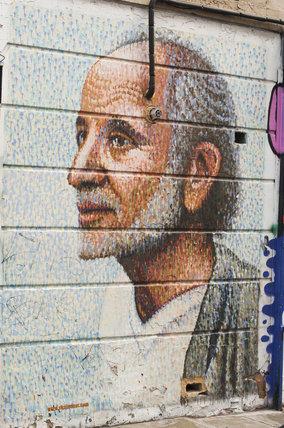 Graffiti portrait in East London by Jimmy C.