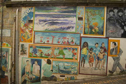The Blands Cliff Murals of the seaside on Blands Cliff