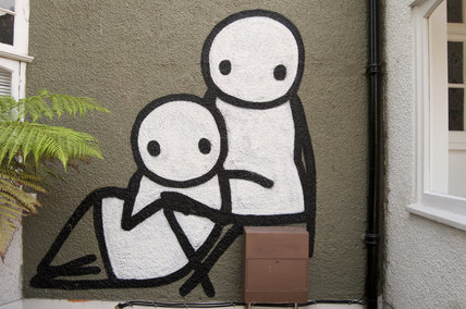 Graffiti in South East London by STIK on Court Lane