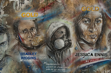 Graffiti portraits in East London by Paul Don Smith