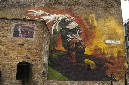 Graffiti in East London of Native American