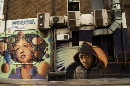 Graffiti portraits in East London by Jimmy C