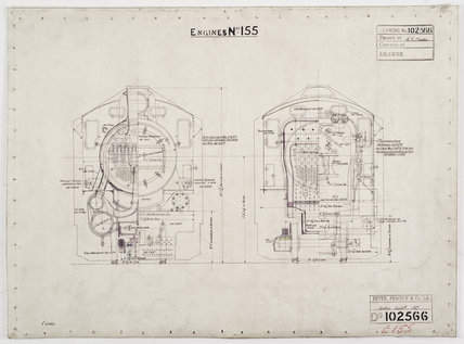 Engineering drawing  1927,A1966.24/MS0001/3/102566