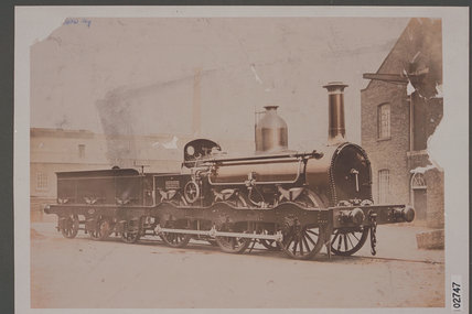 Works photograph of Midland Railway '0-6-0' locomotive, 1858.