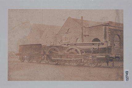 Works photograph of East Lancashire Railway '2-4-0' locomotive, 1857.