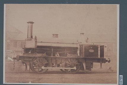 Works photograph of '0-4-0' tank locomotive 'Gardner', 1856.
