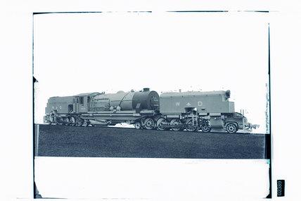 Works photographic negative of Kenya Uganda Railway '4-8-2+2-8-4' EC4 class Garratt locomotive, 1944.