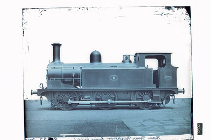 Works photographic negative of Hull, Barnsley & West Riding Junction Railway Co. '0-6-0' Tank Locomotive, 1885.