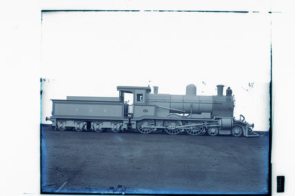 Works photographic negative of Buenos Aires Great Southern Railway '4-6-0' tank locomotive, 1906.