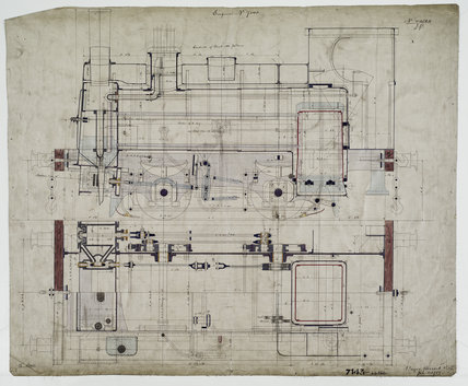Engineering drawing, 1889