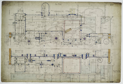 General arrangement drawing of New South Wales Railway (Australia) '2-4-0' tank locomotive.38384_6617