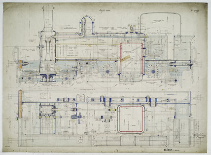 General arrangement drawing of Great Northern Railway of Ireland '4-4-0' tank locomotive.38852_6562